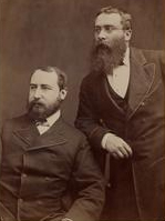 Sir Walter Besant (r) & James Rice (l)